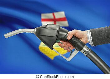 províncias, canadense, bocal, -, mão, bomba combustível,...