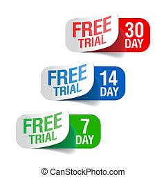 prov, gratis, undertecknar
