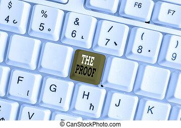 prova, cosa, chiave, parola, scrittura, vedere, azioni, fondo, affari, o, proof., natura, space., nota, copia, qualsiasi, vuoto, carta, bianco, testo, pc, sopra, parole, tastiera, concetto