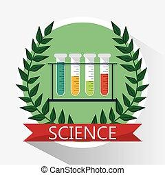 prova, scienza, tubo, rifornimenti scuola
