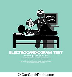 prova, vettore, elettrocardiogramma, illustrazione