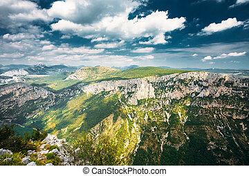 Provence-alpes-cote D'azur, France. Beautiful Mountains Landscape