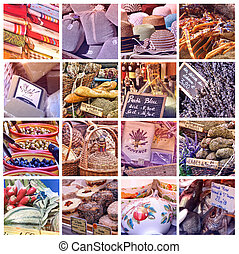 Provence Color Palettes: collage with 16 photos