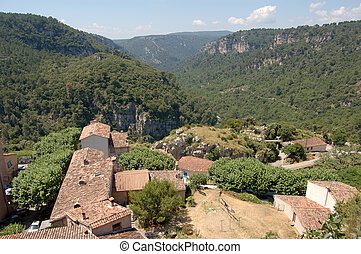 Provence valley from Chateaudouble