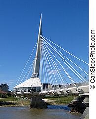 Provencher Bridge, in Winnipeg, Manitoba, Canada.