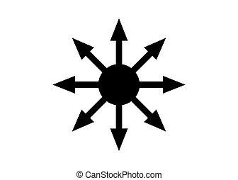 provenir, éternel, later, role-playing, isolé, champion, symbole, occultists, arrière-plan., vecteur, chaos, adopté, blanc, games.