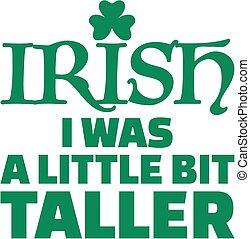 proverbe, irlandais, rue., -, peu, patricks, plus grand,...