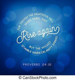 proverbes, sept, bien, citation, bokeh, bible, monter, encore, temps, fond, vertueux, ils, automne