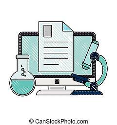 provetta, documento computer