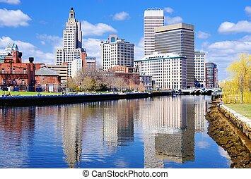 Providence, Rhode Island Skyline - Providence, Rhode Island...
