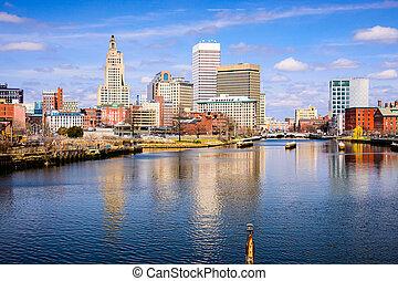 Providence River Skyline