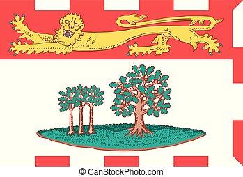 province, canada, vecteur, île, drapeau, edward, prince
