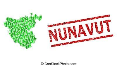 province, nunavut, cadiz, mosaïque, vert, textured, dollar, ...