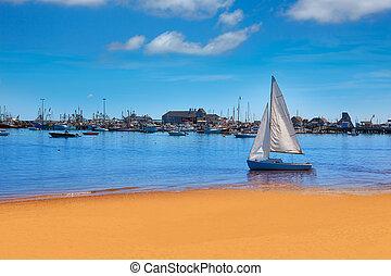 Provincetown, cap, plage, morue,  Massachusetts