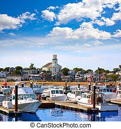 provincetown, nosotros, bacalao, capa, puerto, massachusetts