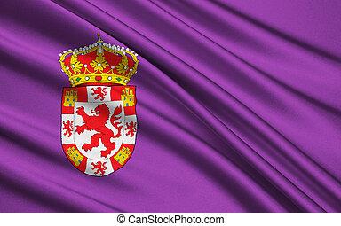 provincia, bandera, cordova, sur, españa