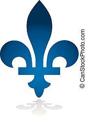 provincia, canadá, emblema, quebec