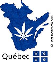 provincia, canada, canapa, legalization, vettore, quebec