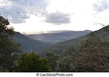 provincia, grazalema, hacia, natural, excursionismo, de,...