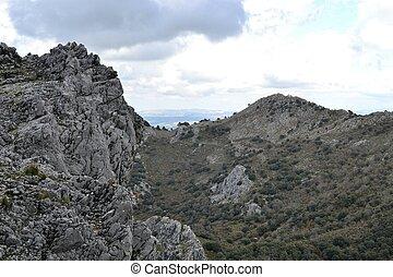 provincia, montañas, hacia, natural, excursionismo,...