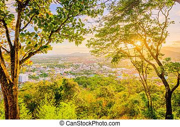 provincia, ocaso, khao, ciudad, punto de vista, rang,...