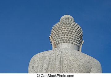 provincia, phuket, grande, espalda, buddha, estatua,...