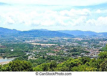 provincia, phuket, thailand., ciudad, punto de vista