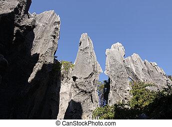 provincia, piedra, shilin, yunnan, china, bosque