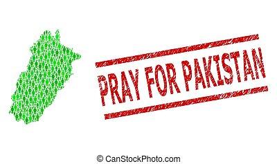 provincia, rogar, clientes, mosaico, paquistán, impresión, verde, punjab, dólar, angustia, estampilla, mapa