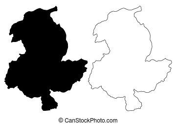 provincia, sar-e, pol, vector, mapa