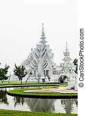 provincia, tailandia, chiangrai, rongkhun, wat