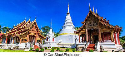 provincia, thaila, phra, asia, chiang mai, cantar, wat,...