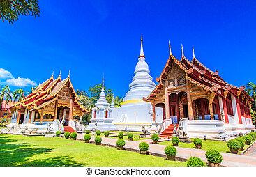 provincia, thaila, phra, asia, chiang mai, cantare, wat, ...