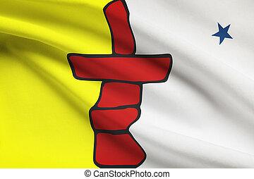 provincias, canadiense, serie, -, banderas, nunavut