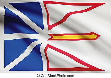provincias, labrador, canadiense, serie, -, banderas, ...