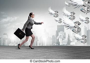 provisión de recursos financieros, inversionista, perseguir, ángel, businesspeople