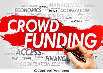 provisión de recursos financieros, multitud