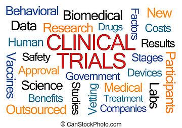 provtryck, klinisk, ord, moln