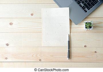 provviste, computer, scrivania ufficio