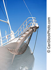 Prow of the sailing boat