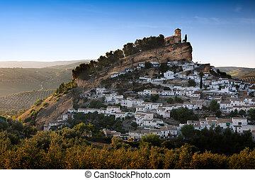 prowincja, granada, słoneczny dzień, hiszpania, montefrio