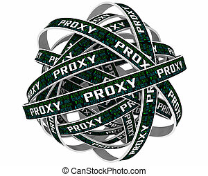 Proxy Shareholder Vote Company Business Stock Shares Election 3d Illustration
