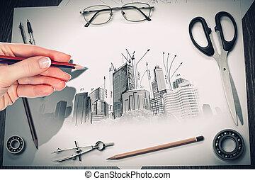 proyecto, arquitectónico