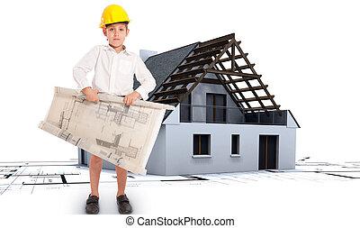 proyecto, casa, futuro, arquitecto