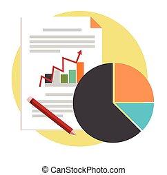 proyecto, concepto, des, empresa / negocio, vector