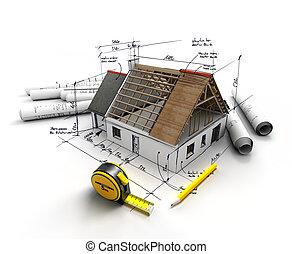 proyecto, construcción casera