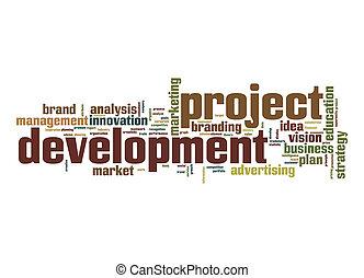 proyecto, desarrollo, palabra, nube
