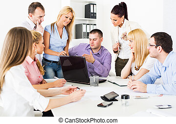 proyecto, discutir negocio, gente