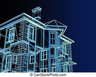 proyecto, nuevo, dwelling-house