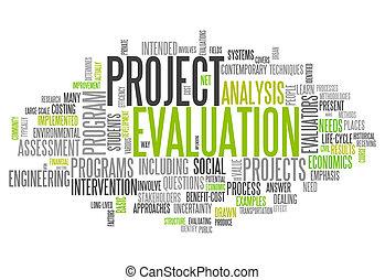 proyecto, palabra, evaluación, nube